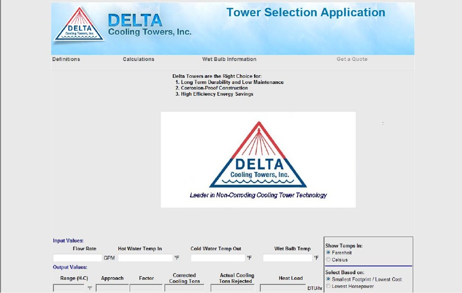 TowerSelect™ cooling tower selection program